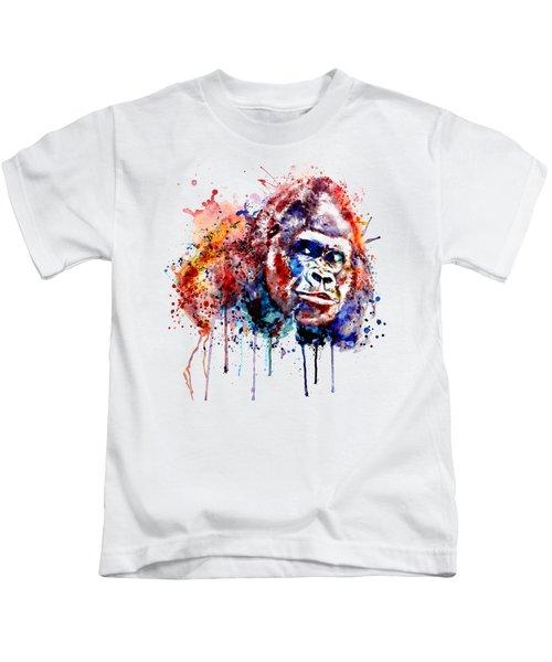 Gorilla Kids T-Shirt by Marian Voicu