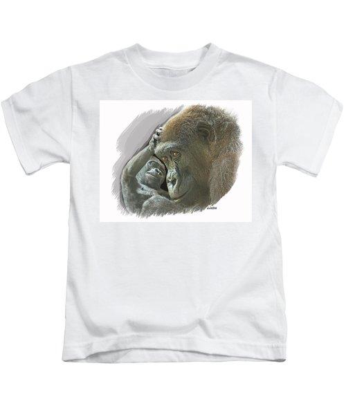 Gorilla Mother Kids T-Shirt