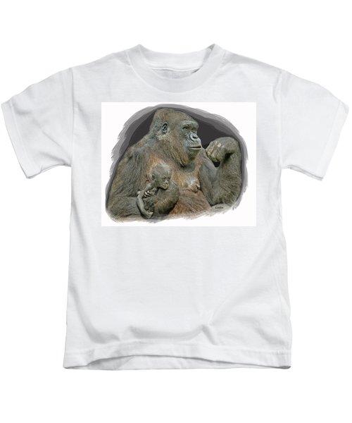 Gorilla Motherhood Kids T-Shirt