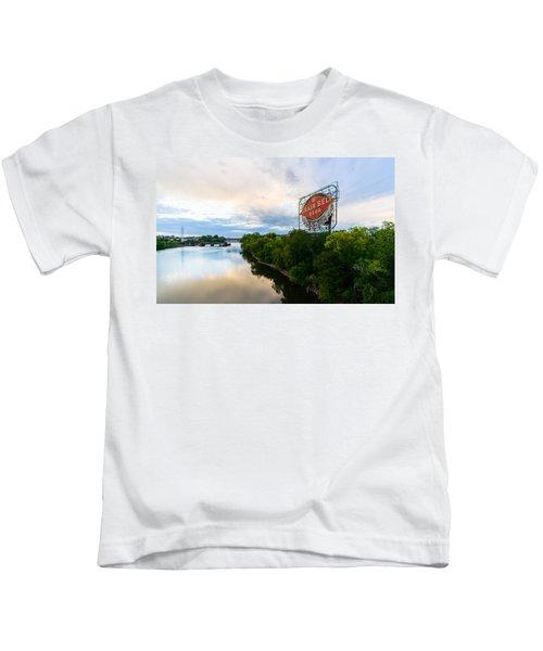 Grain Belt Beer Sign On River Kids T-Shirt