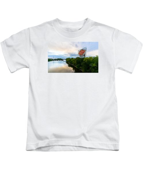 Grain Belt Beer Sign On River Kids T-Shirt