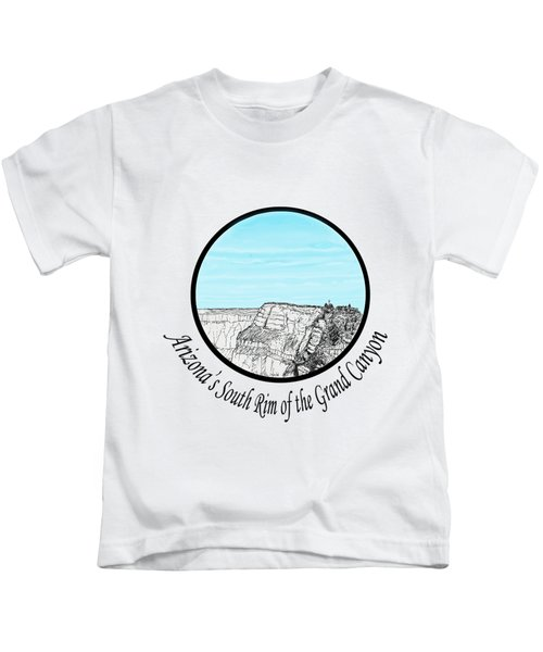 Grand Canyon - South Rim Kids T-Shirt by James Lewis Hamilton