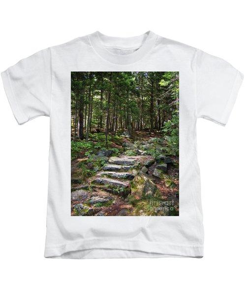 Granite Steps, Camden Hills State Park, Camden, Maine -43933 Kids T-Shirt