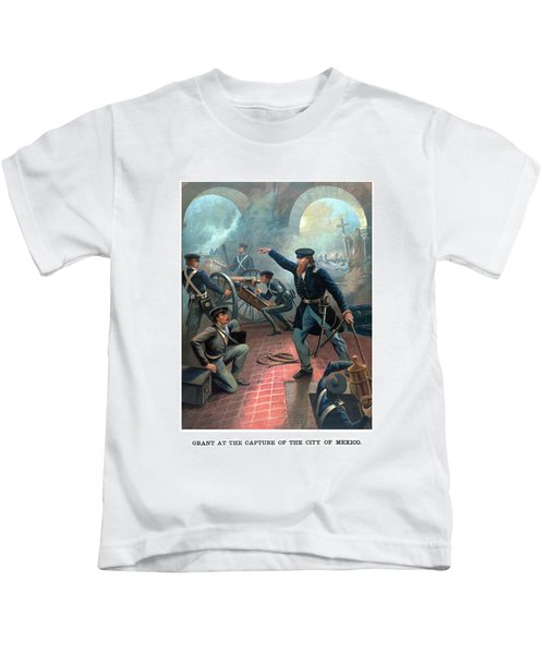 Grant At The Capture Of The City Of Mexico Kids T-Shirt