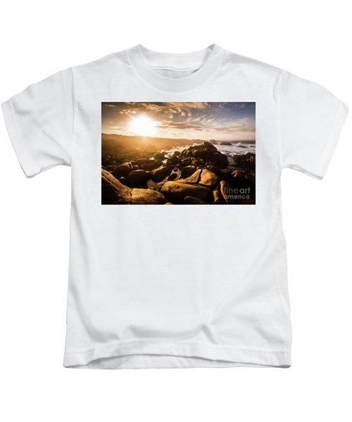 Granville Harbour Tasmania Sunrise Kids T-Shirt