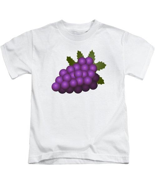 Grapes Fruit Kids T-Shirt by Miroslav Nemecek