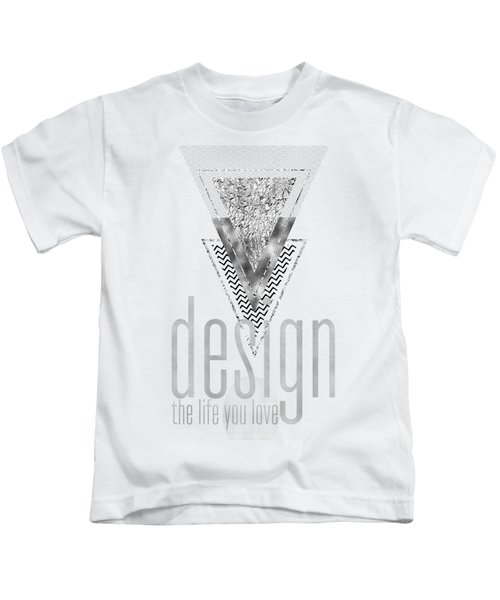 Graphic Art Design The Life You Love - Silver Kids T-Shirt
