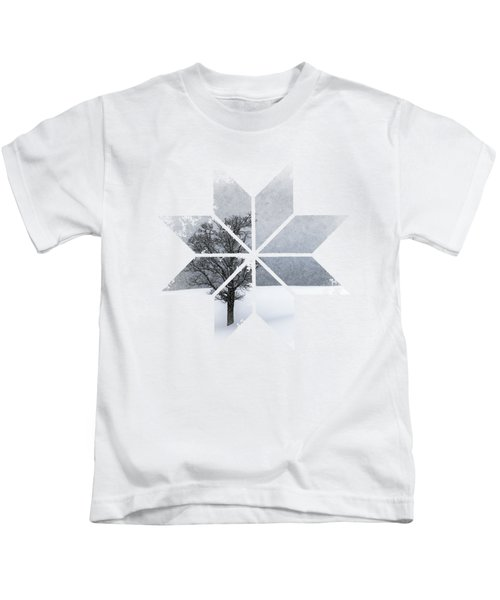 Graphic Art Snowflake Lonely Tree Kids T-Shirt