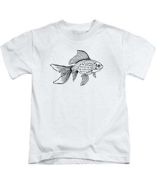 Graphic Fish Kids T-Shirt by Masha Batkova