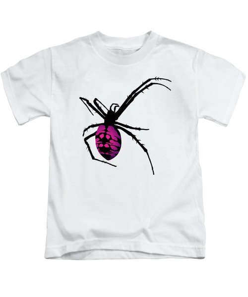 Graphic Spider Black And Purple Kids T-Shirt