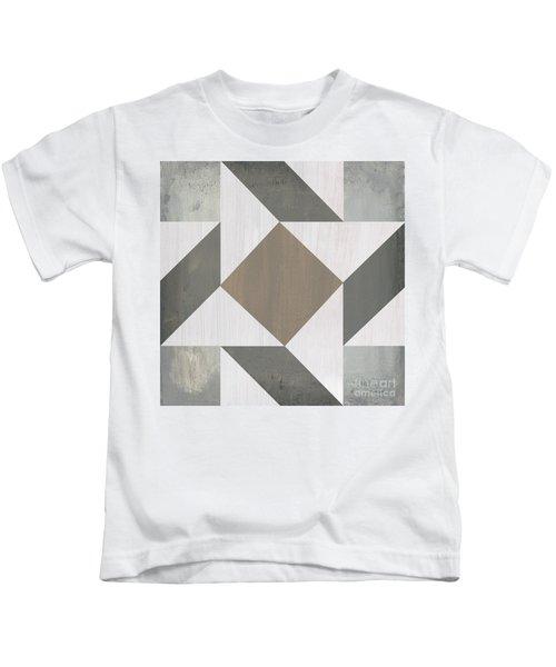 Gray Quilt Kids T-Shirt