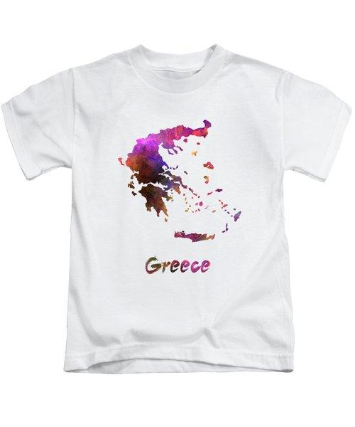 Greece In Watercolor Kids T-Shirt