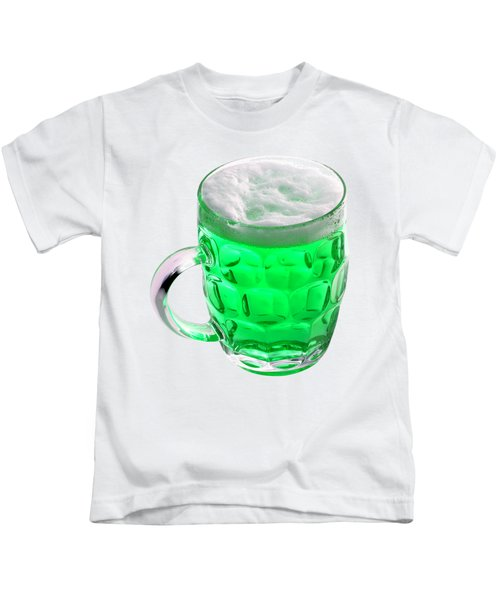 Green Beer Kids T-Shirt by Stephanie Brock
