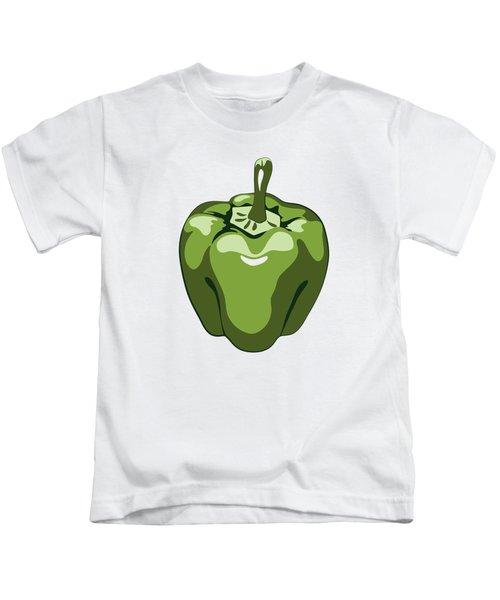 Green Bell Pepper Kids T-Shirt