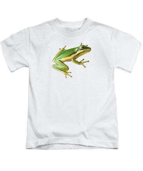 Green Tree Frog Kids T-Shirt