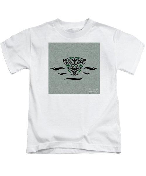 Green Tribal Gator Kids T-Shirt