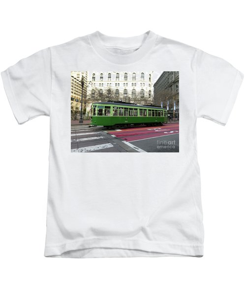 Green Trolley Kids T-Shirt