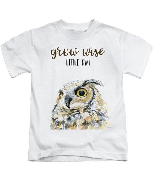 Grow Wise Little Owl Kids T-Shirt
