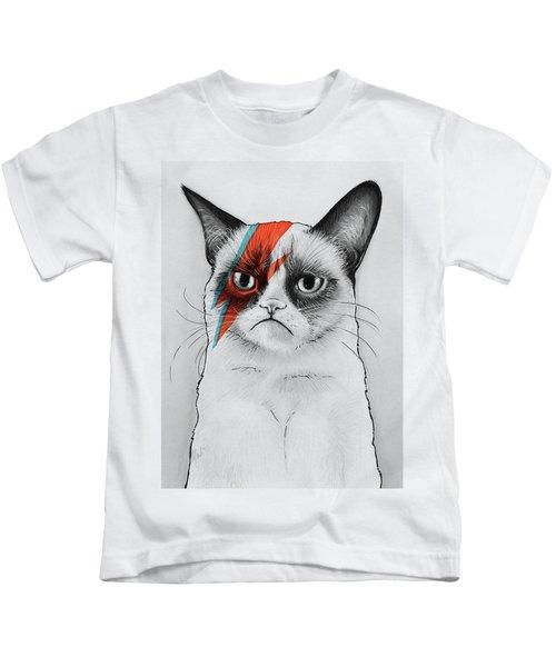 Grumpy Cat Portrait Kids T-Shirt