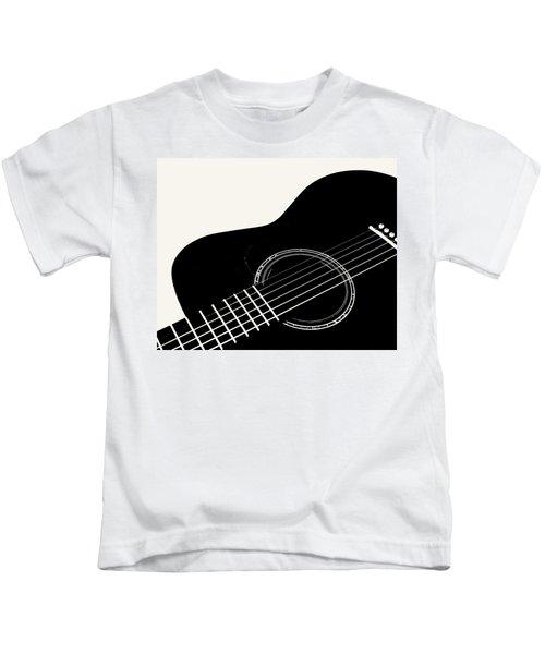 Guitar, Black And White,  Kids T-Shirt