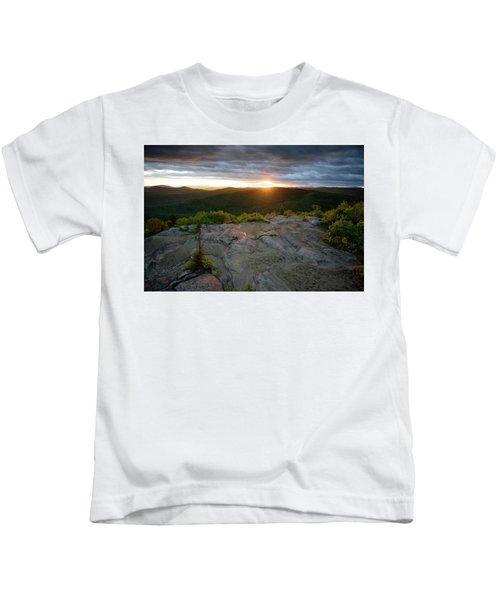 Hadley Mountain Sunset Kids T-Shirt