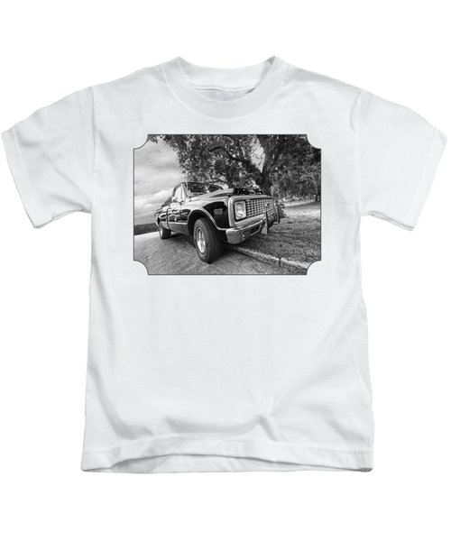 Halcyon Days - 1971 Chevy Pickup Bw Kids T-Shirt