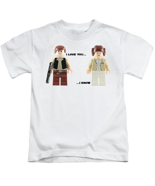 Han And Leia  Kids T-Shirt