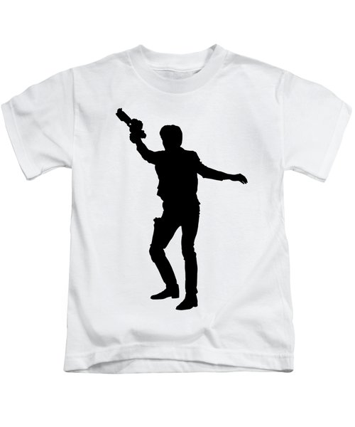 Kids T-Shirt featuring the digital art Han Solo Star Wars Tee by Edward Fielding