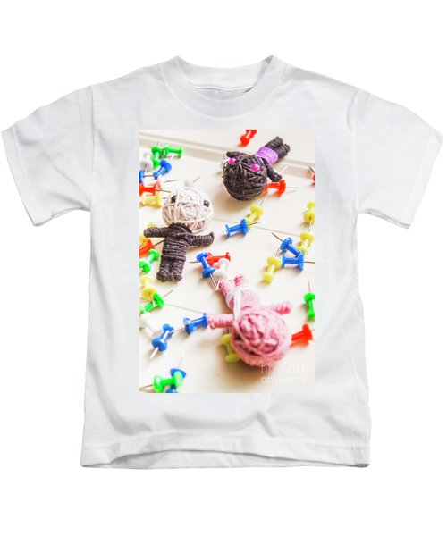 Handmade Knitted Voodoo Dolls With Pins Kids T-Shirt