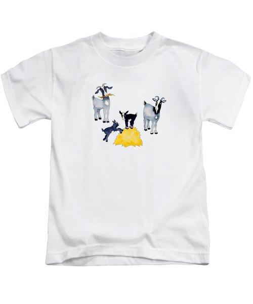 Happy Goats Kids T-Shirt by Sarah Rosedahl