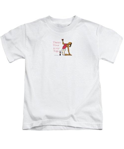 Happy Hour Pose 2 Kids T-Shirt