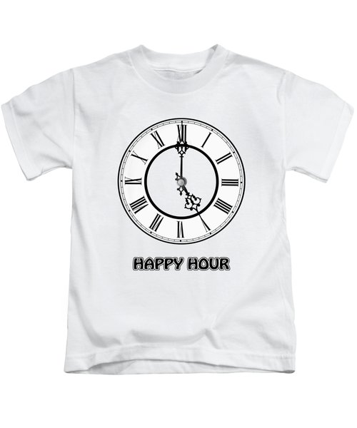 Happy Hour - White And Blue Kids T-Shirt