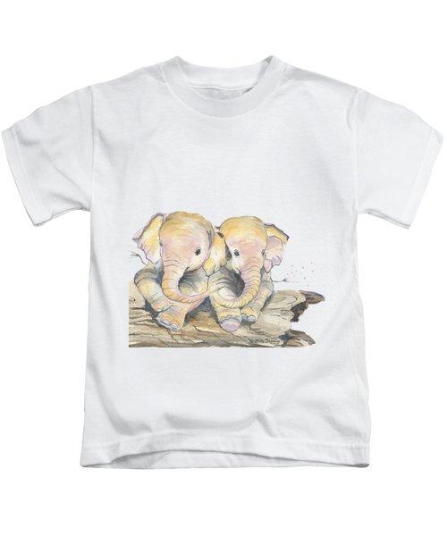 Happy Little Elephants Kids T-Shirt