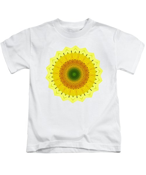 Happy Sunflower Mandala By Kaye Menner Kids T-Shirt