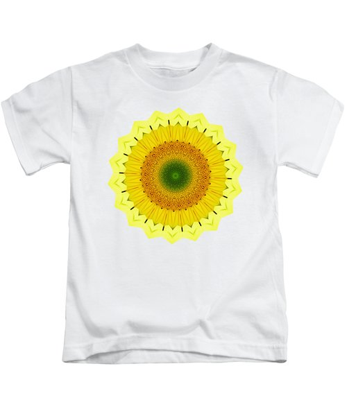 Happy Sunflower Mandala By Kaye Menner Kids T-Shirt