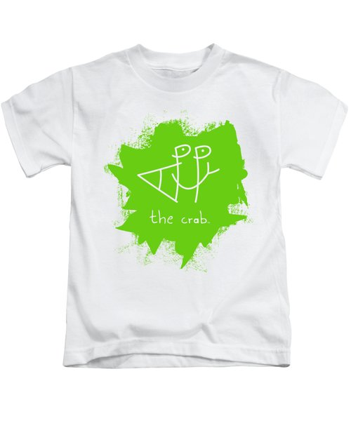 Happy The Crab - Green Kids T-Shirt