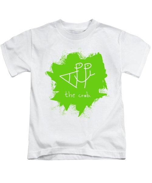 Happy The Crab - Green Kids T-Shirt