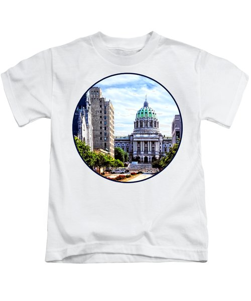 Harrisburg Pa - Capitol Building Seen From State Street Kids T-Shirt