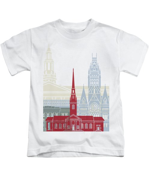 Harvard Skyline Poster Kids T-Shirt
