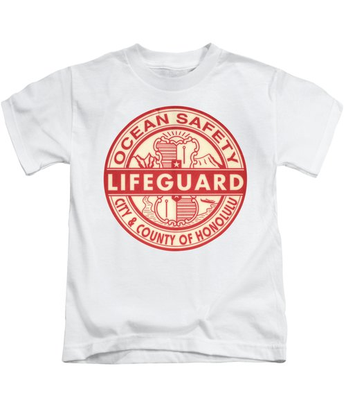 Hawaii Lifeguard Logo Kids T-Shirt by Mr Doomits