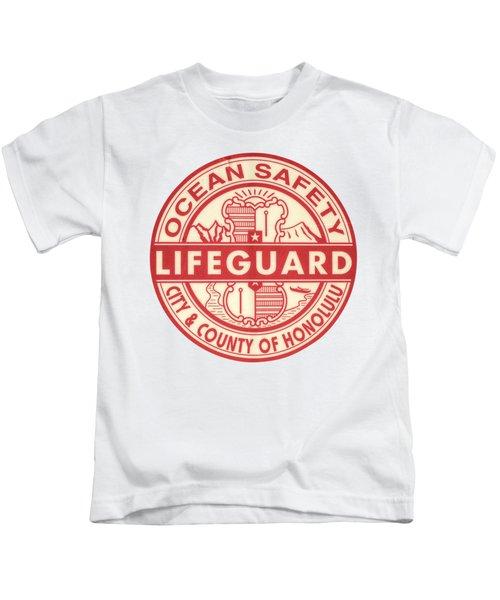 Hawaii Lifeguard Logo Kids T-Shirt