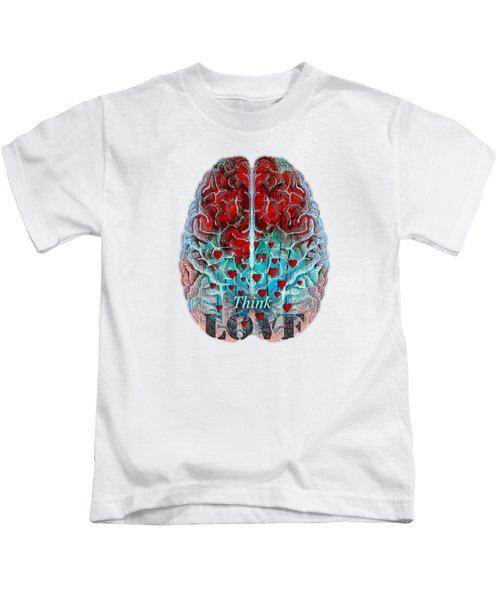 Heart Art - Think Love - By Sharon Cummings Kids T-Shirt
