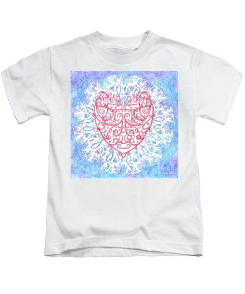 Heart In A Snowflake II Kids T-Shirt