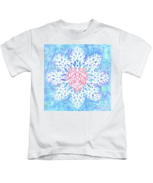 Heart In Snowflake Kids T-Shirt
