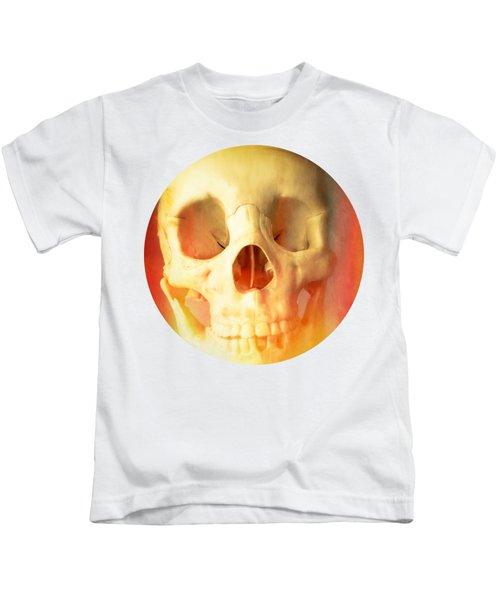 Hell Fire Skull Round Beach Towel Blanket Kids T-Shirt