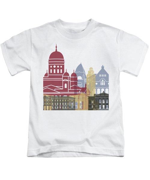 Helsinki Skyline Poster Kids T-Shirt