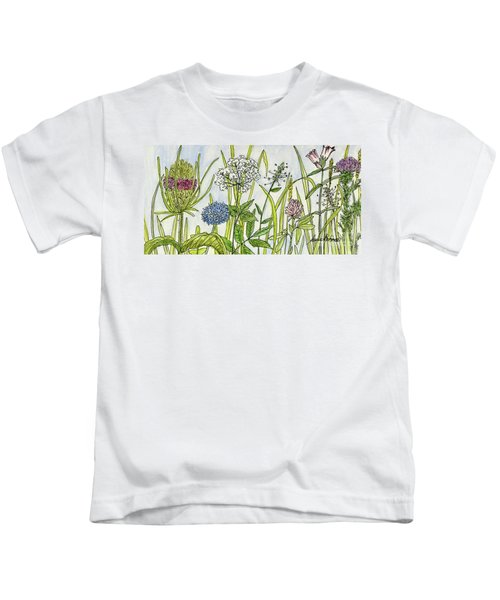 Herbs And Flowers Kids T-Shirt