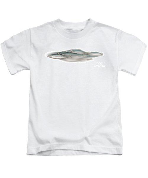 Herring School Of Fish - Clupea - Nautical Art - Seafood Art - Marine Art - Game Fish Kids T-Shirt