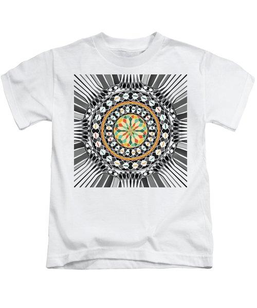 High Contrast Mandala Kids T-Shirt