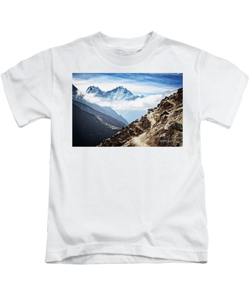 High In The Himalayas Kids T-Shirt
